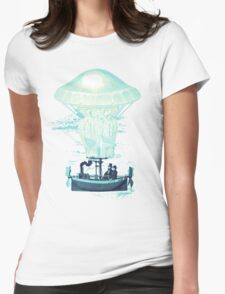 Jellyfish dirigible Womens Fitted T-Shirt