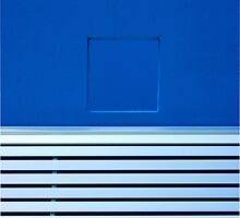 Blue wall and seat by athex