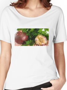 Onion Garlic and Parsley Women's Relaxed Fit T-Shirt