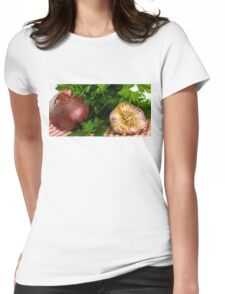 Onion Garlic and Parsley Womens Fitted T-Shirt