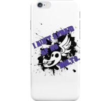 I ain't afraid of no 'bolts (text on white) iPhone Case/Skin