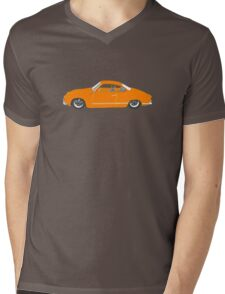 Orange Karmann Ghia Mens V-Neck T-Shirt
