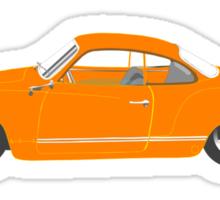Orange Karmann Ghia Sticker