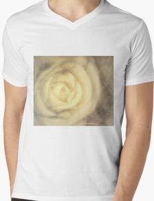 White Beauty Mens V-Neck T-Shirt