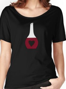 Heart Decanter (I heart red wine, Black BG) Women's Relaxed Fit T-Shirt
