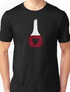 Heart Decanter (I heart red wine, Black BG) Unisex T-Shirt