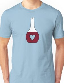 Heart Decanter (I heart red wine, Black BG) Unisex T-Shirt