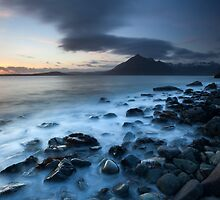 elgol beach sunset by codaimages