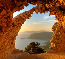 Arched Aegean View - Monolythos Rhodes by EvergreenImp