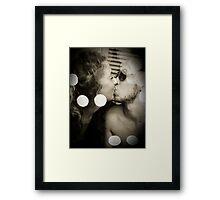 Kisses honeyed by oblivion Framed Print