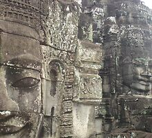Heads of the Bayon Temple- Angkor Wat Cambodia  by BRIGHTEY84