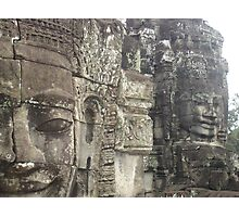 Heads of the Bayon Temple- Angkor Wat Cambodia  Photographic Print