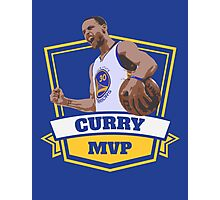 Stephen Curry - Golden State Warriors - MVP - blue Photographic Print