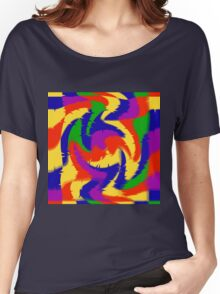 Primary Color Abstract Women's Relaxed Fit T-Shirt