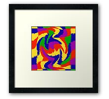 Primary Color Abstract Framed Print