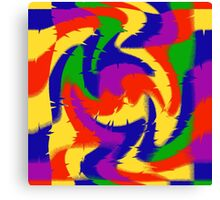 Primary Color Abstract Canvas Print