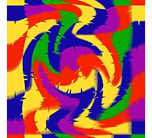 Primary Color Abstract Photographic Print