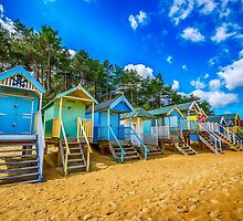 Coloured Beach Huts 2 by Chris Thaxter