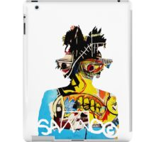 Basquiat SAMO silhouette Untitled iPad Case/Skin