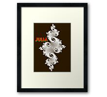 Julia Beautiful (in white) Framed Print