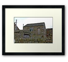 Stone Shed Framed Print