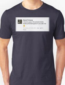 """""""David Fortuna Facebook Humor"""" T-Shirt"""
