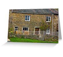 Village Cottage - Muker, Yorks Dales N.P. Greeting Card