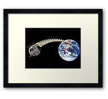 Space Core Goes to Space Framed Print