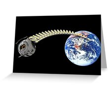 Space Core Goes to Space Greeting Card