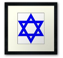 Star of David, blue and thick Framed Print