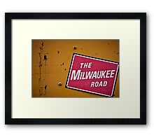 The Milwaukee Road Framed Print