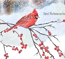Damn!The berries are frozen! by Joan A Hamilton