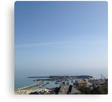 The Cobb from Above at Lyme Regis by Natalie Manifold Canvas Print