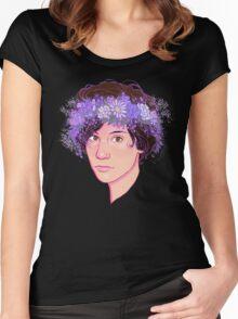 Ryan Flower Crown  Women's Fitted Scoop T-Shirt