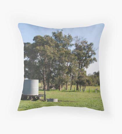 Windmill Panorama Throw Pillow