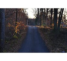 Country road in early November Photographic Print