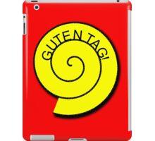 """Buttons """"Guten Tag"""" rot, gelb unt schwarz iPad Case/Skin"""