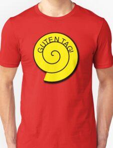 """Buttons """"Guten Tag"""" rot, gelb unt schwarz T-Shirt"""