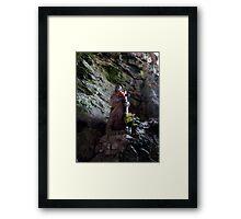 The Madonna of Gorge de Galamus Framed Print