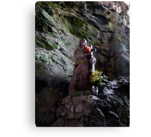 The Madonna of Gorge de Galamus Canvas Print