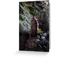 The Madonna of Gorge de Galamus Greeting Card