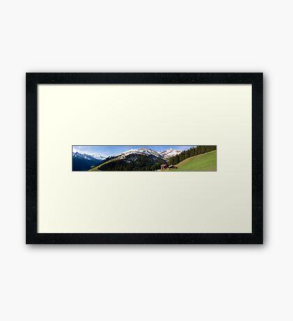 Tux Valley Framed Print
