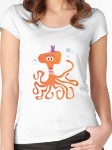 Otto the Octopus Women's Fitted Scoop T-Shirt