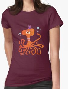 Otto the Octopus Womens Fitted T-Shirt