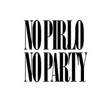 No Pirlo No Party Photographic Print