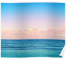 Cotton Candy Beach Sunset Poster
