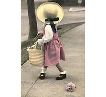 Colleen with Hat Photographic Print