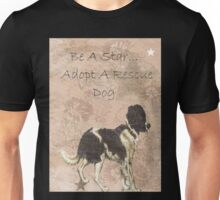 Adopt Rescue Dog Humane Star Unisex T-Shirt
