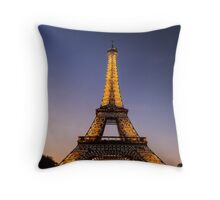 Eiffel Tower and sunset (2) Throw Pillow