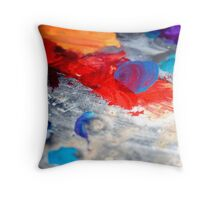 Paint Markings Throw Pillow
